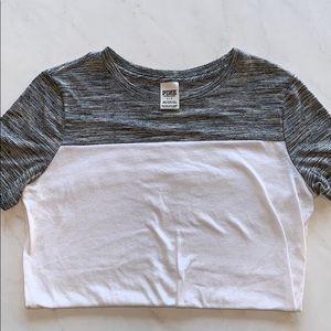 Gray/white PINK Victoria's Secret short sleeve tee
